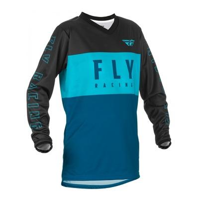 Maillot enfant Fly Racing F-16 aqua/dark teal/noir