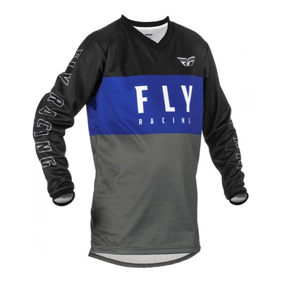 Maillot enfant Fly Racing F-16 bleu/gris/noir
