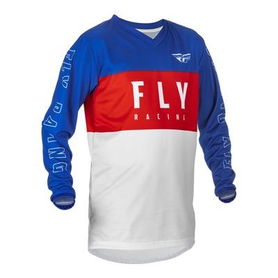 Maillot enfant Fly Racing F-16 rouge/blanc/bleu