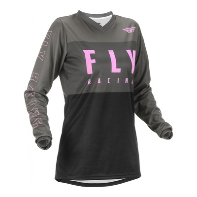 Maillot femme Fly Racing F-16 gris/noir/rose