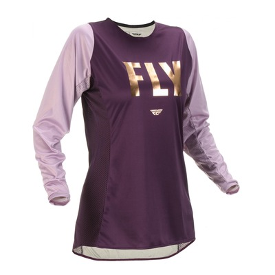 Maillot femme Fly Racing Lite mauve|or