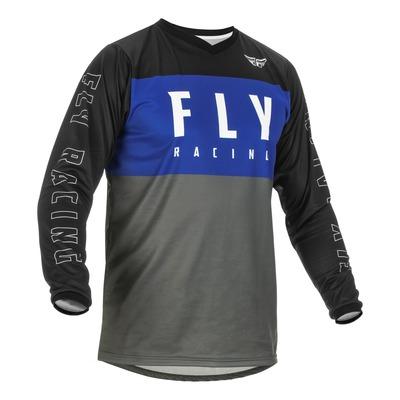 Maillot Fly Racing F-16 bleu/gris/noir