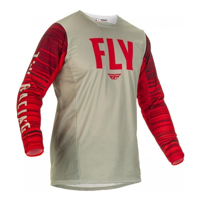 Maillot Fly Racing Kinetic Wave gris/rouge