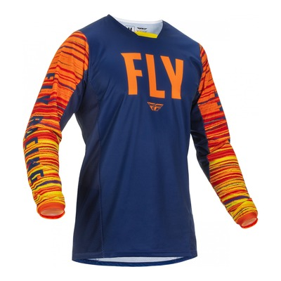 Maillot Fly Racing Kinetic Wave navy/orange