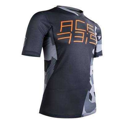 Maillot vélo Acerbis MTB Combat noir/gris camouflage/orange