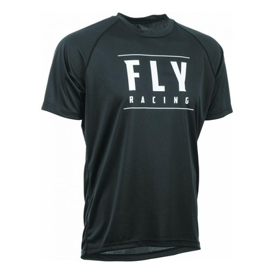 Maillot vélo Fly Racing Action noir/blanc