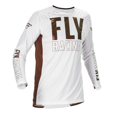 Maillot vélo Fly Racing Lite L.E blanc/cuivre