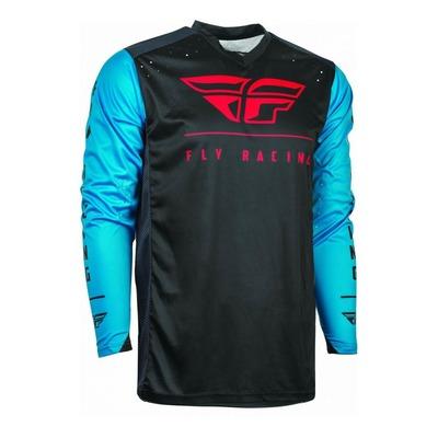 Maillot vélo Fly Racing Radium bleu/noir/rouge