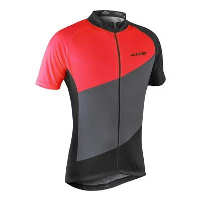 Maillot vélo Gist Flow manches courtes gris/noir/rouge