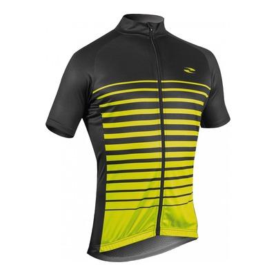 Maillot vélo Gist Flow manches courtes noir/jaune fluo