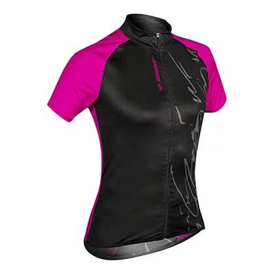 Maillot vélo Gist Mood Lady manches courtes noir/rose