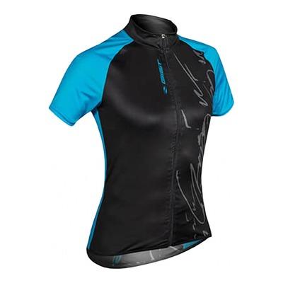 Maillot vélo Gist Mood Lady manches courtes noir/bleu
