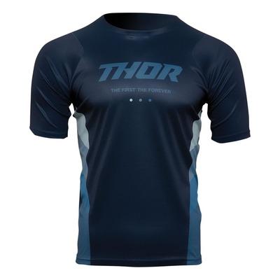 Maillot vélo manches courtes Thor Assist React bleu nuit/bleu