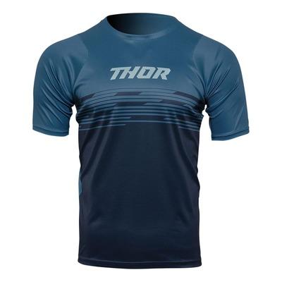 Maillot vélo manches courtes Thor Assist Shiver bleu nuit/bleu