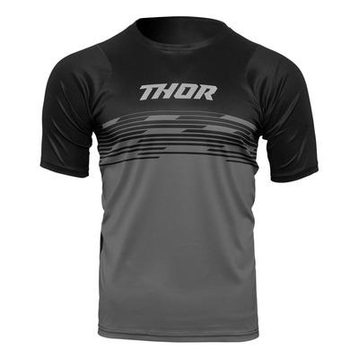 Maillot vélo manches courtes Thor Assist Shiver noir/gris