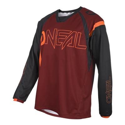Maillot vélo O'Neal Element FR Hybrid rouge/orange