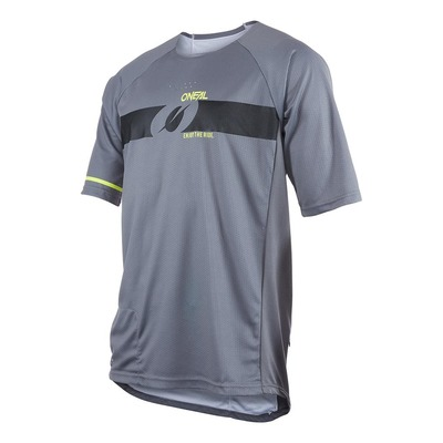Maillot vélo O'Neal Pin It V.22 gris/jaune fluo