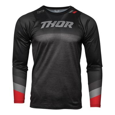Maillot vélo Thor Assist MTB LS noir/gris