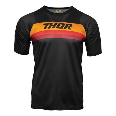 Maillot vélo Thor Assist SS noir/orange/rouge