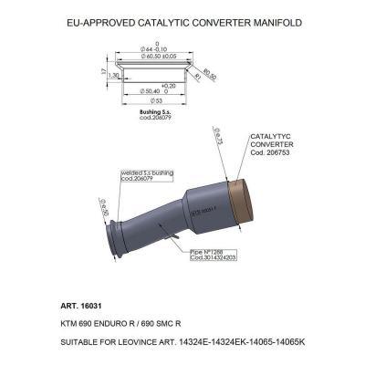Manchon catalysé Leovince KTM 690 SMC-R 19-20