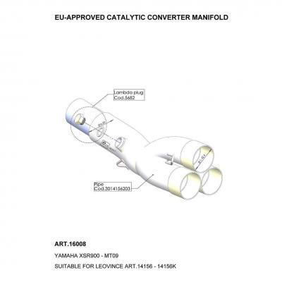 Manchon catalysé Leovince Yamaha MT-09 13-20