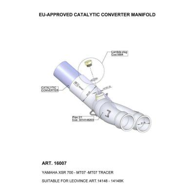 Manchon catalysé Leovince Yamaha Tracer 700 16-20
