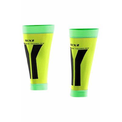 Manchons de compression mollets Sixs jaune et vert