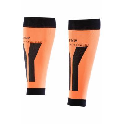 Manchons de compression mollets Sixs orange et noir