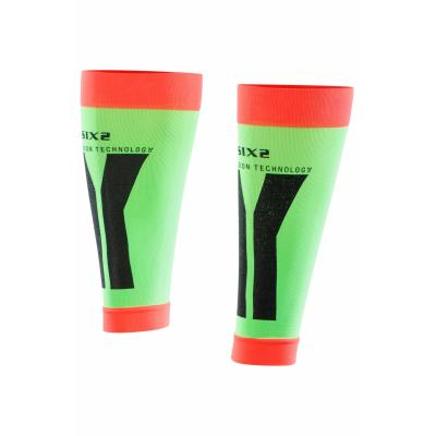 Manchons de compression mollets Sixs vert et rouge
