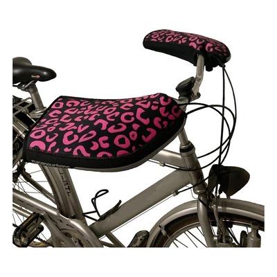 Manchons de guidon vélo Tucano Urbano City leopard noir/rose