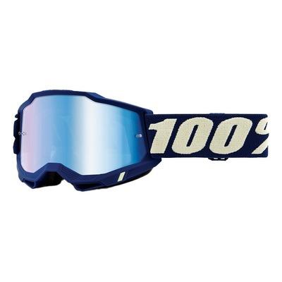 Masque cross 100% Accuri 2 Deepmarine écran iridium bleu