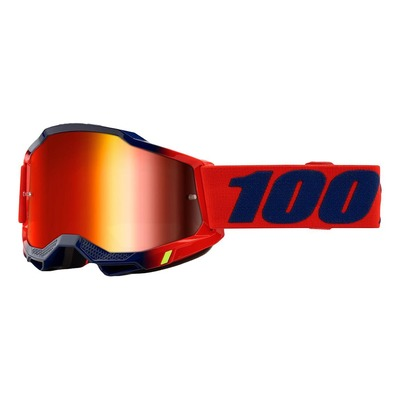 Masque cross 100% Accuri 2 Kearny rouge/bleu écran iridium rouge