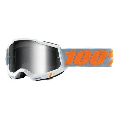 Masque cross 100% Accuri 2 Speedco écran iridium argent