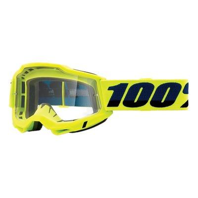 Masque cross 100% Accuri 2 Yellow écran incolore