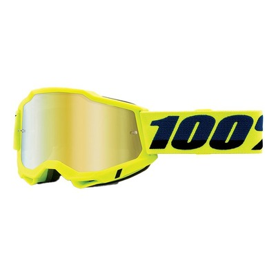 Masque cross 100% Accuri 2 yellow écran iridium or