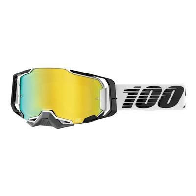 Masque cross 100% Armega Atmos écran iridium or