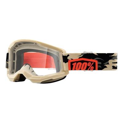 Masque cross 100% Strata 2 Kombat écran incolore