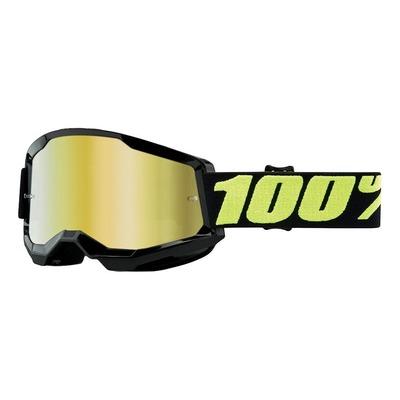 Masque cross 100% Strata 2 Upsol écran iridium or