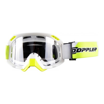 Masque cross Doppler blanc et jaune