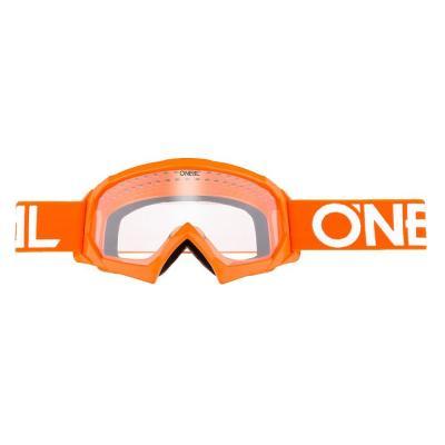 Masque cross enfant O'Neal B-10 Solid orange/blanc