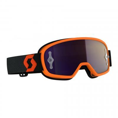 Masque cross enfant Scott Buzz MX Pro orange/noir- écran chrome violet