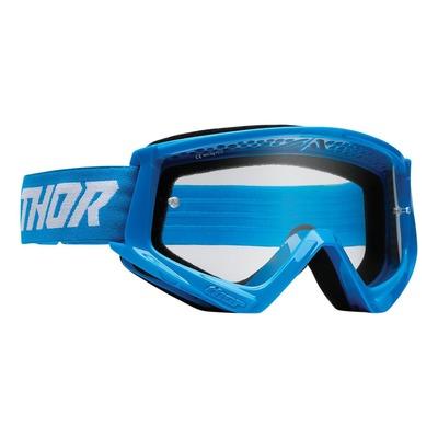 Masque cross enfant Thor Combat bleu/blanc- écran transparent