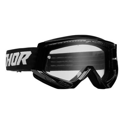 Masque cross enfant Thor Combat noir/blanc- écran transparent