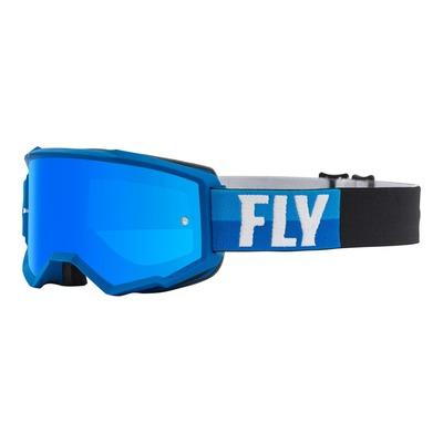 Masque cross Fly Racing Zone bleu/noir écran iridium bleu ciel