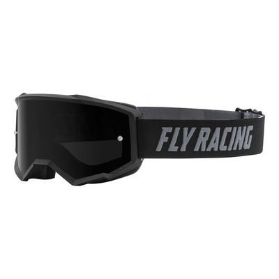 Masque cross Fly Racing Zone noir écran fumé foncé