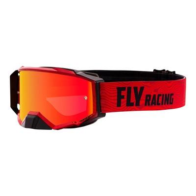 Masque cross Fly Racing Zone Pro rouge/noir écran iridium rouge