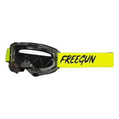 Masque cross Freegun Skill Camo jaune fluo