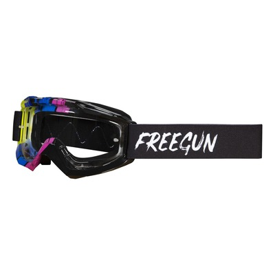Masque cross Freegun Skill Stripe jaune fluo