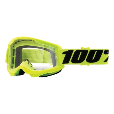 Masque cross Junior 100% Strata 2 Yellow écran incolore