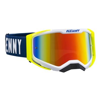 Masque cross Kenny Performance level 2 navy/jaune fluo écran iridium